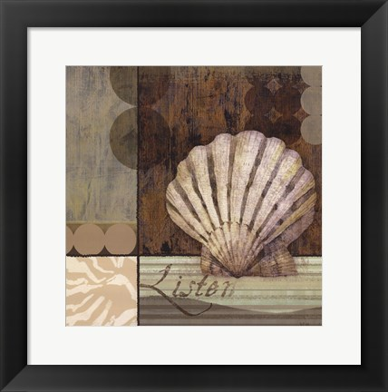 Framed Contemporary Shell I Print