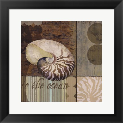 Framed Contemporary Shell II Print