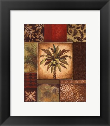 Framed Palm Collage II - petite Print