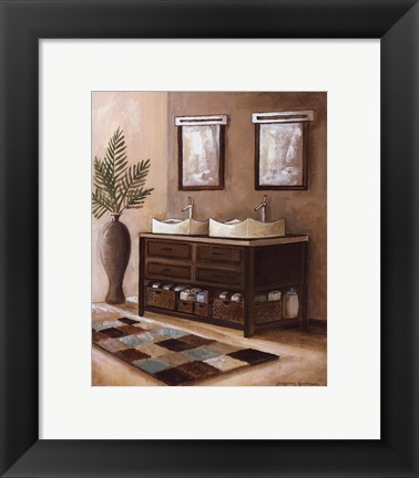 Framed Bath Still Life II - mini Print