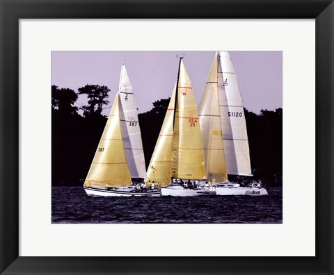 Framed Race at Annapolis I Print