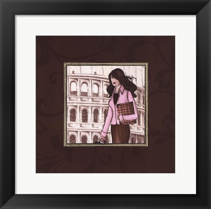 Framed Roma in Pink Print