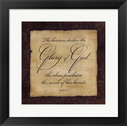 Framed Glory To God Print