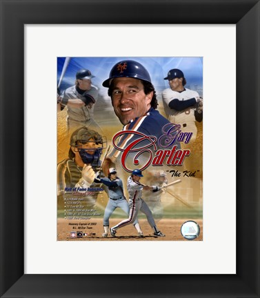 Framed Gary Carter - (4 Team) Legends Print