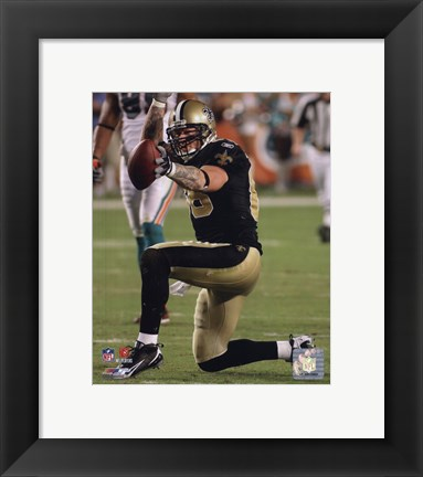 Framed Jeremy Shockey 2009 Action Print