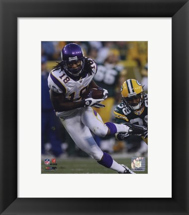 Framed Sidney Rice 2009 Action Print