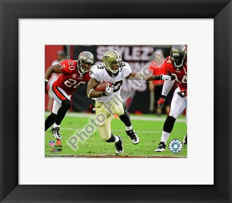 Framed Pierre Thomas 2009 Action Print