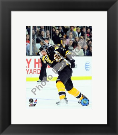 Framed Patrice Bergeron 2009-10 Action Print