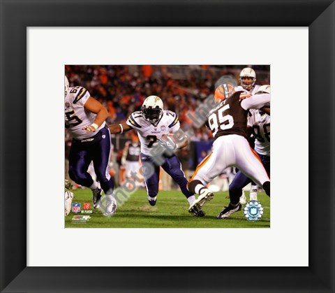 Framed LaDainian Tomlinson 150th Career Touchdown, 2009 Print
