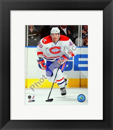 Framed Maxim Lapierre 2009-10 Action Print