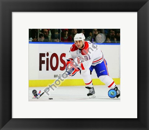 Framed Scott Gomez 2009-10 Action Print
