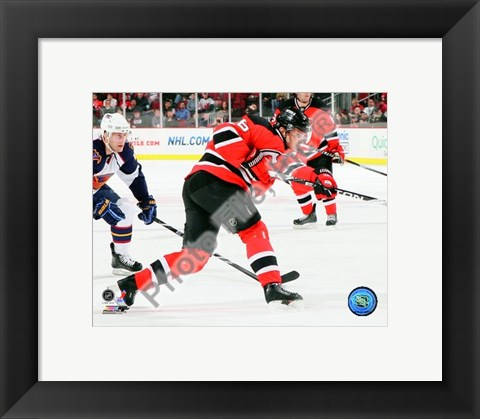 Framed Patrik Elias 2009-10 Action Print