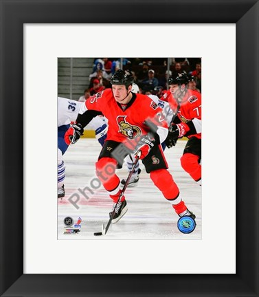 Framed Chris Neil 2009-10 Action Print