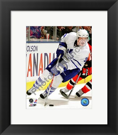 Framed Dion Phaneuf 2009-10 Action On Ice Print