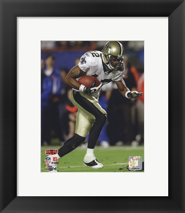Framed Marques Colston Super Bowl XLIV Action (#20) Print