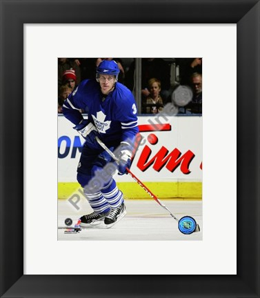 Framed Dion Phaneuf 2009-10 Action Print