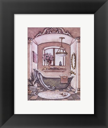 Framed Vintage Bathtub ll Print