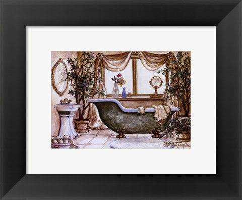 Framed Vintage Bathtub lll Print
