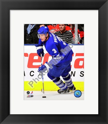 Framed Dion Phaneuf 2009-10 Action In Play Print