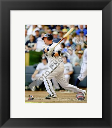 Framed Casey McGehee 2010 Action Print