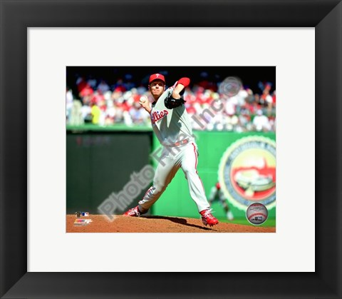 Framed Roy Halladay 2010 Action Print
