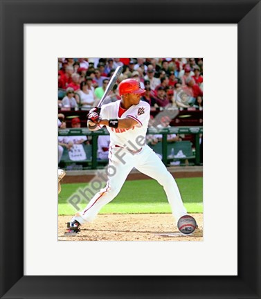 Framed Justin Upton 2010 Action Print