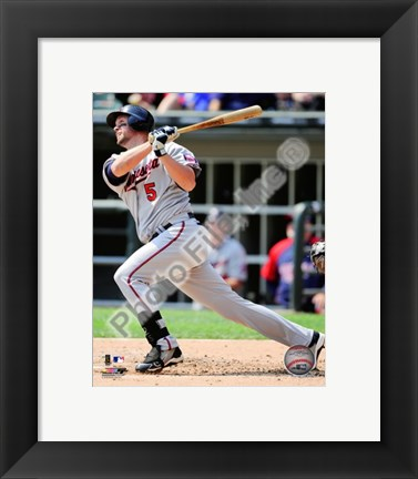 Framed Michael Cuddyer 2010 Action Hitting Print