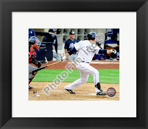 Framed Adrian Gonzalez 2010 Action On The Field Print
