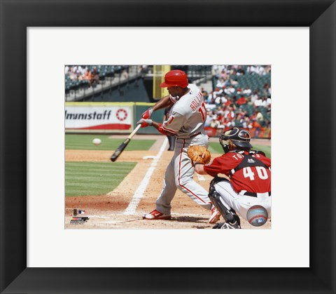 Framed Jimmy Rollins 2010 Action Print
