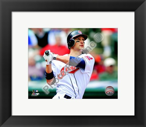 Framed Grady Sizemore 2010 Action Print