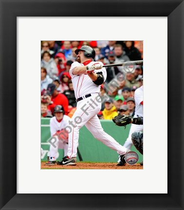 Framed Kevin Youkilis 2010 Action Print