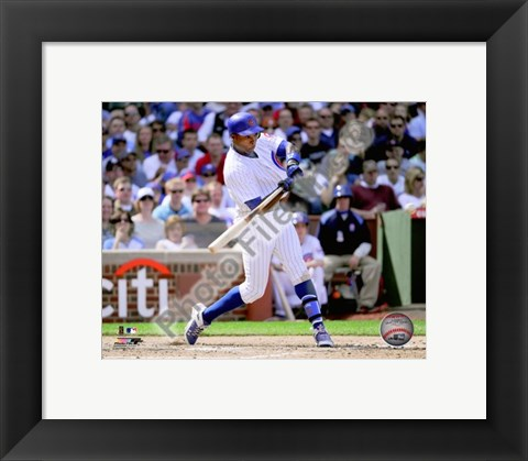 Framed Alfonso Soriano 2010 Action Print