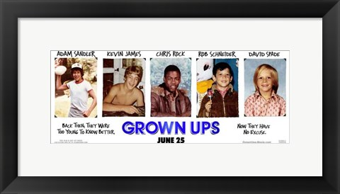 Framed Grown Ups - style A Print