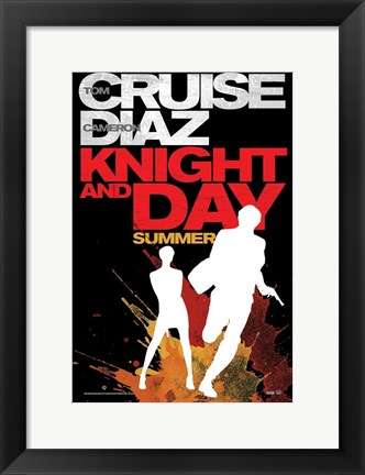 Framed Knight and Day - style A Print