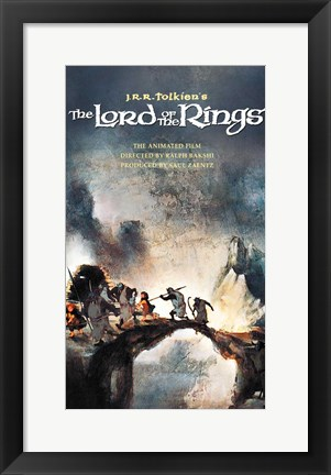 Framed Lord of the Rings, animated - style F Print