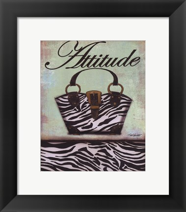 Framed Exotic Purse III - mini Print