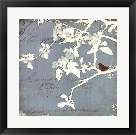 Framed Song Birds III Print