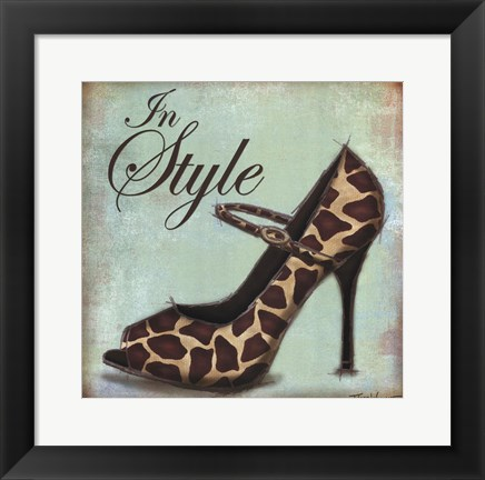 Framed Exotic Shoe II Print