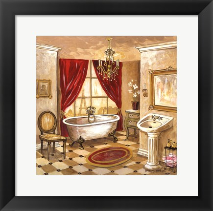 Framed Persian Bath Print