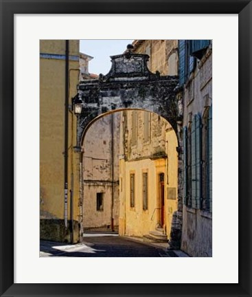 Framed Stone Walkways III Print