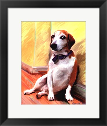 Framed Being a Beagle Print