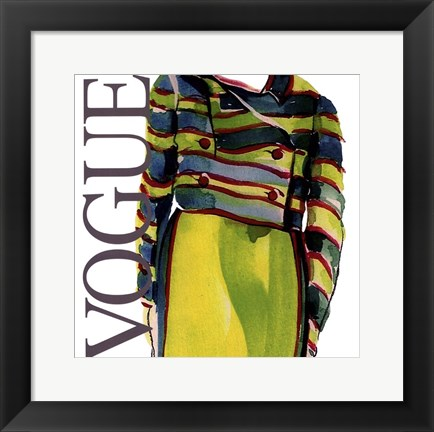 Framed Fashion Vogue Print