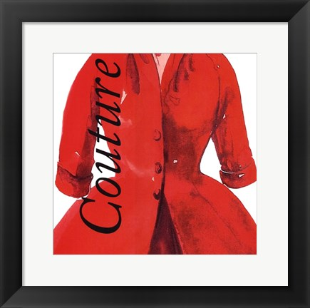 Framed Fashion Couture Print