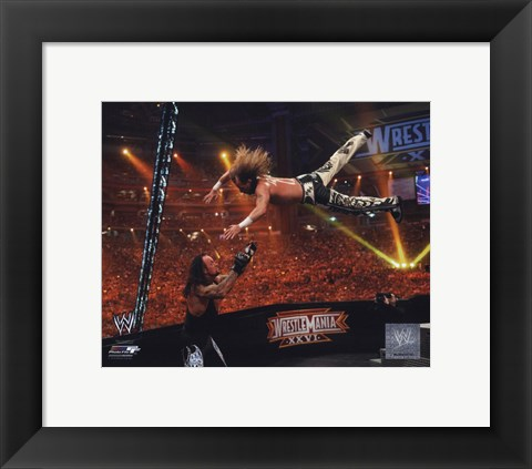 Framed Shawn Michaels Wrestlemania 26 Action Print