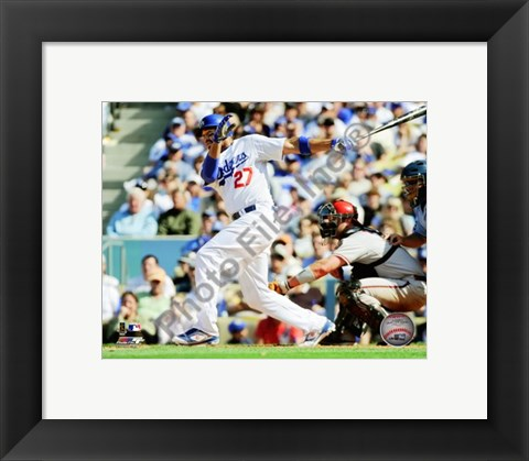 Framed Matt Kemp 2010 Action Print