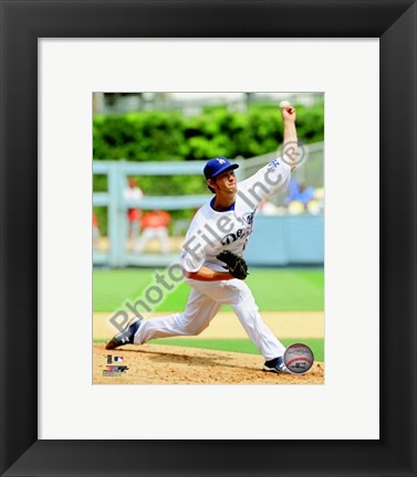 Framed Clayton Kershaw 2010 Action Print