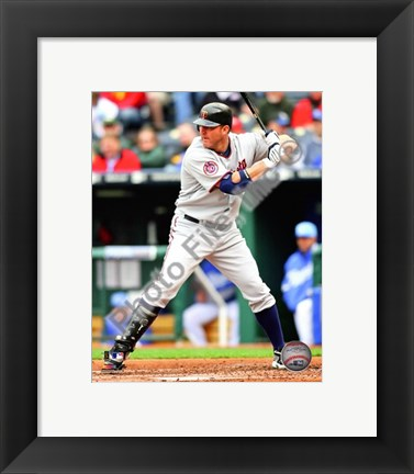 Framed Jim Thome 2010 batting Print