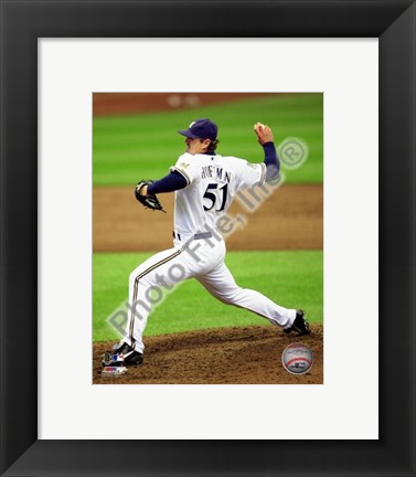 Framed Trevor Hoffman 2010 Milwaukee Brewers Print