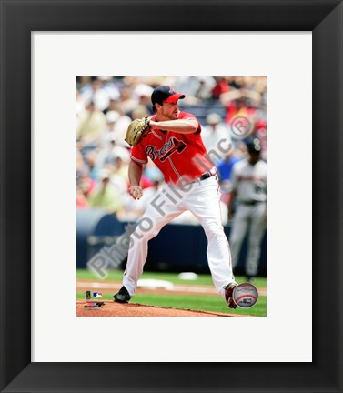 Framed Derek Lowe 2010 Action Print