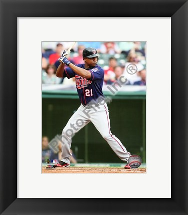 Framed Delmon Young 2010 Action Print